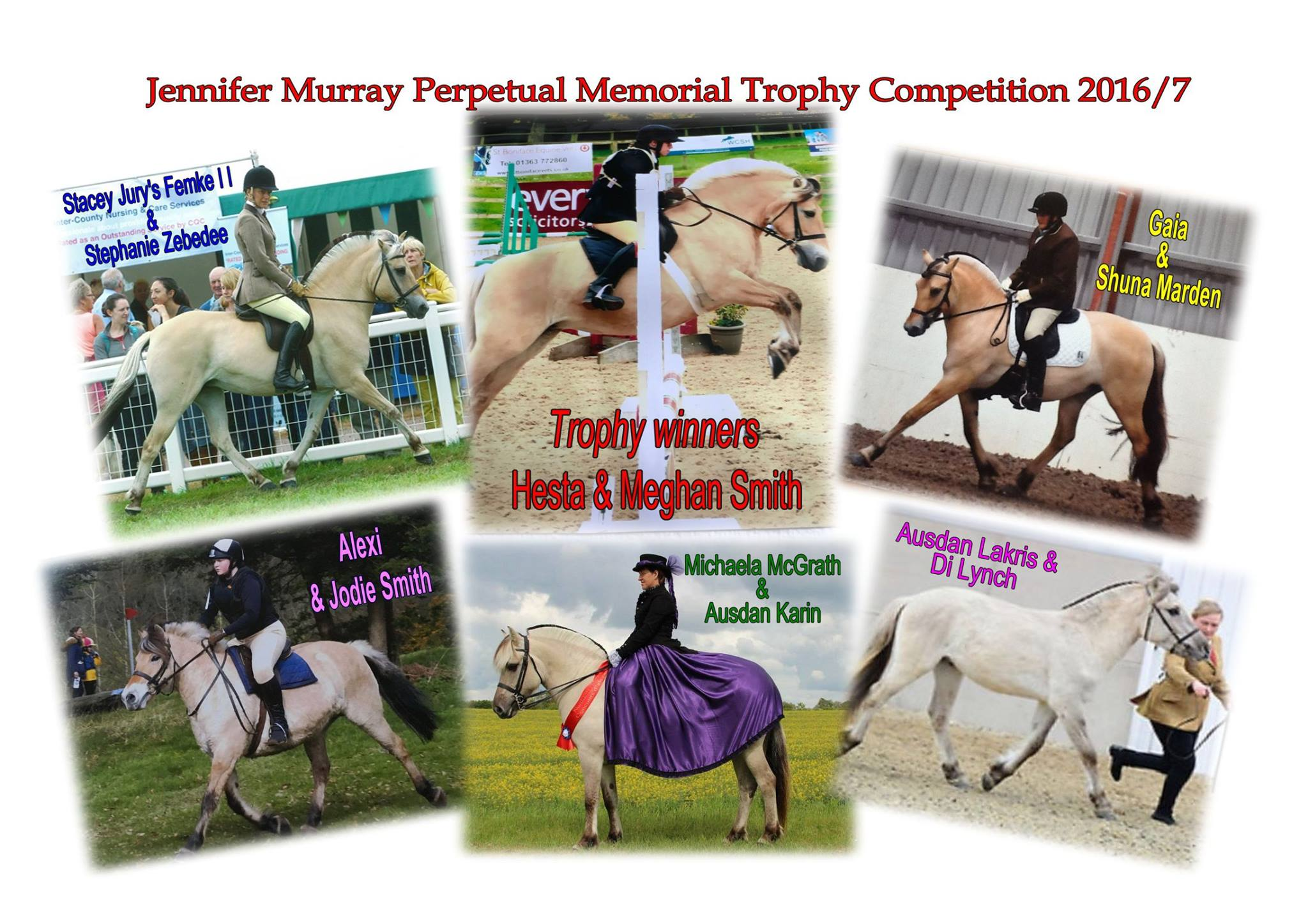 Jennifer Murray 2016 17 Trophy